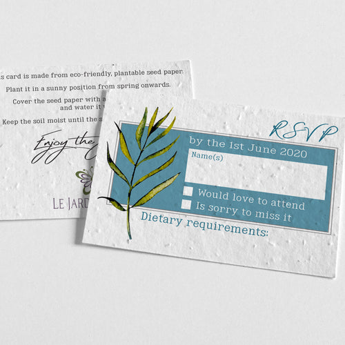 eco-friendly RSVP card