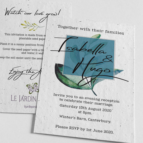eco-friendly wedding evening invitation