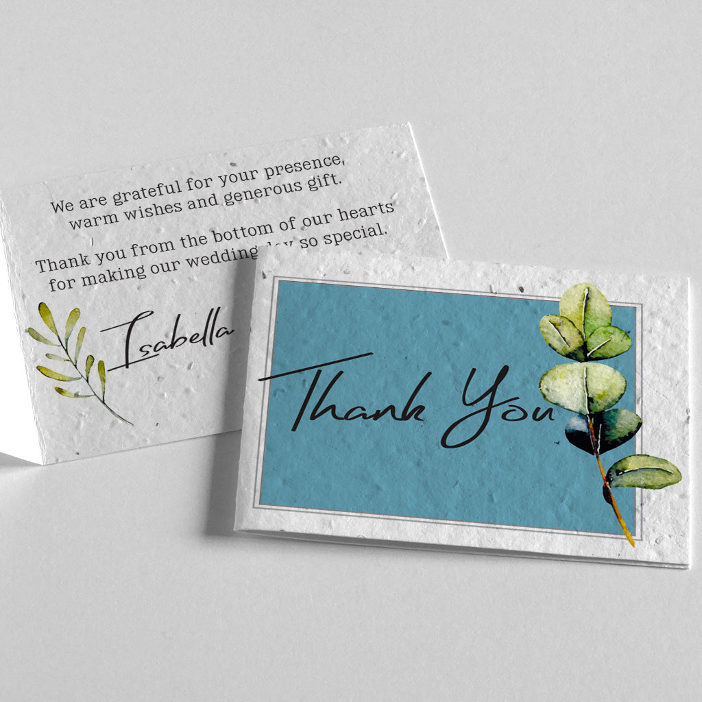 eco-friendly thank you card