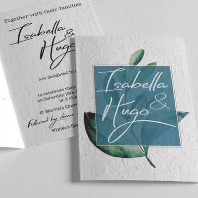 eco-friendly wedding invitation