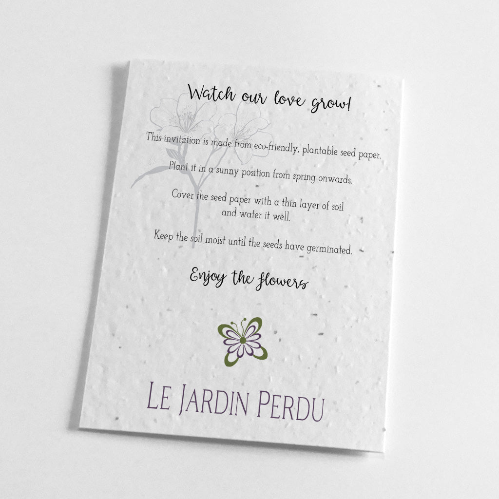 biodegradable wedding stationery