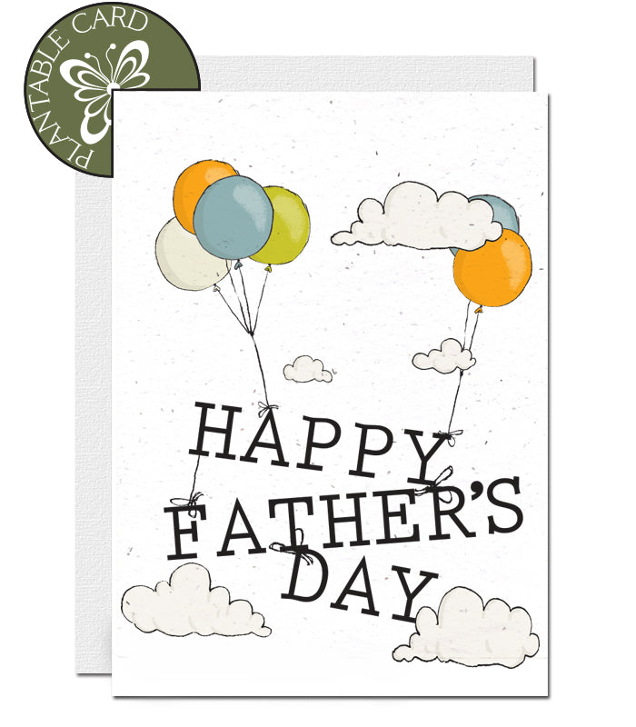 Plantable Father's Day Card - Balloons