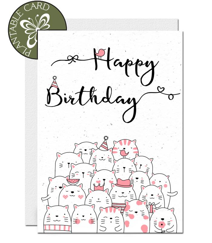ecofriendly plantable birthday card
