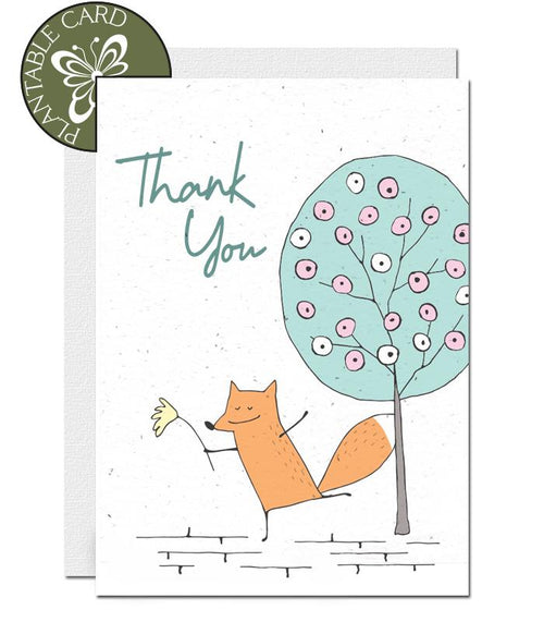 ecofriendly thank you card
