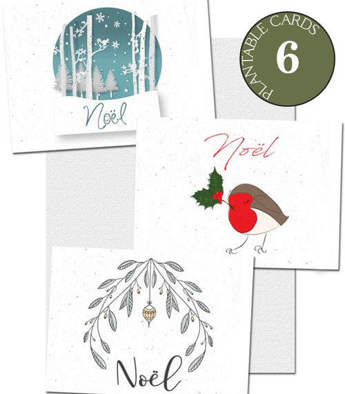 ecofriendly christmas cards 6 pack