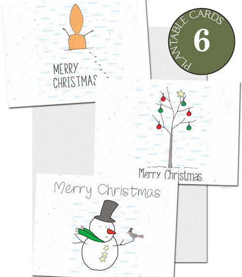 eco-friendly Christmas cards set of 6