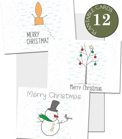 ecofriendly christmas cards set of 12