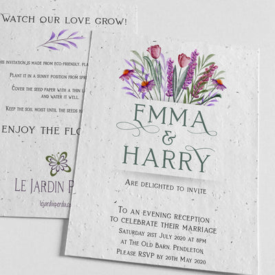 ecofriendly evening reception invitation