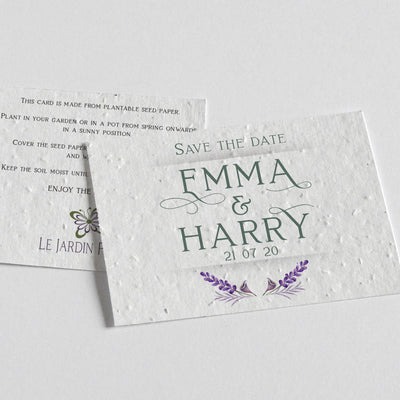 ecofriendly save the date cards