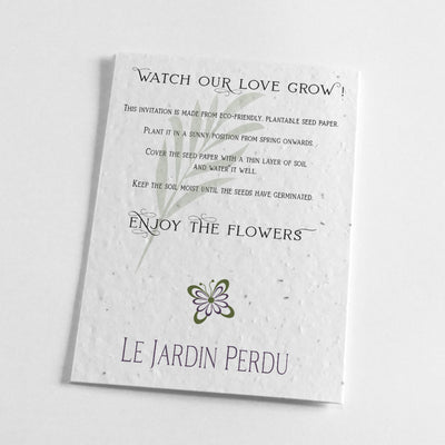 environmentally friendly wedding stationery
