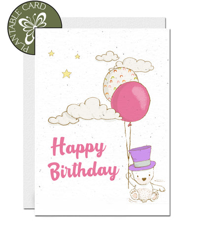 environmentally friendly birthday card girl