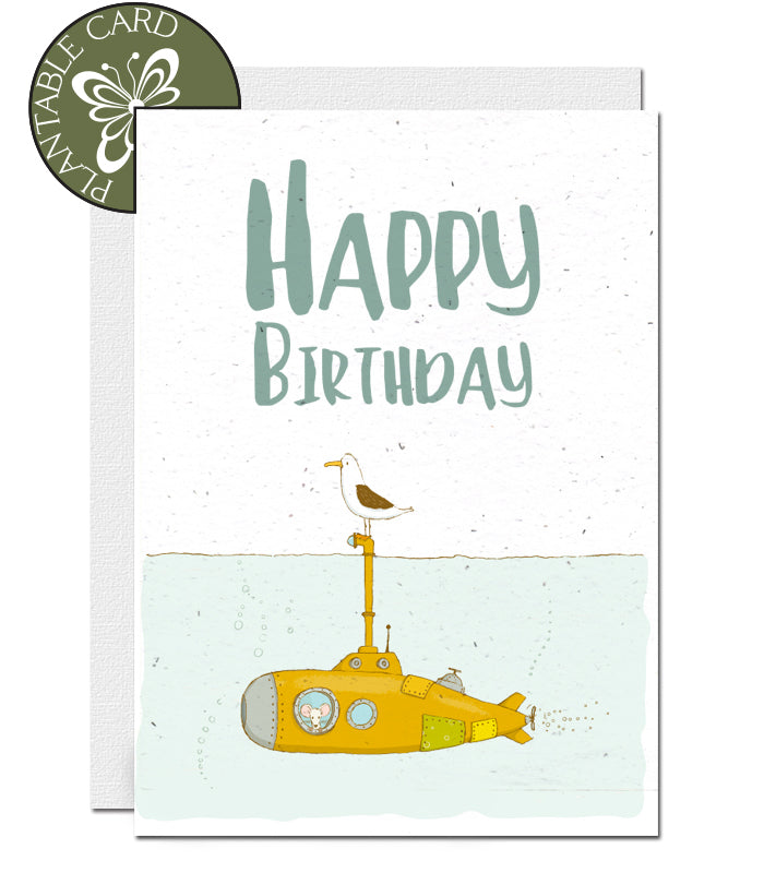 childrens ecofriendly birthday card