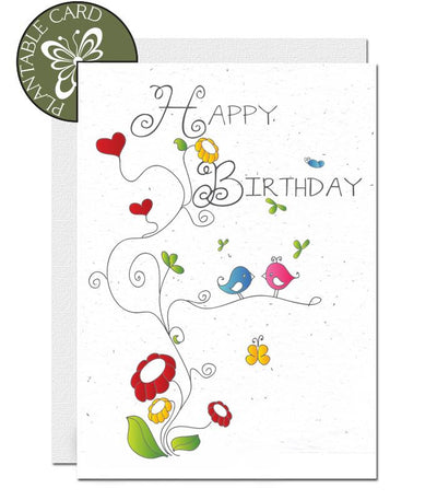 birthday card flowers