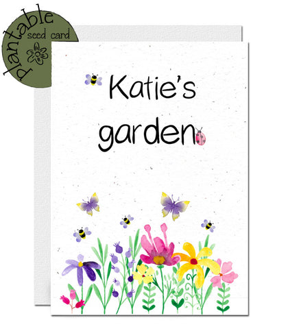 Personalised plantable card ecofriendly
