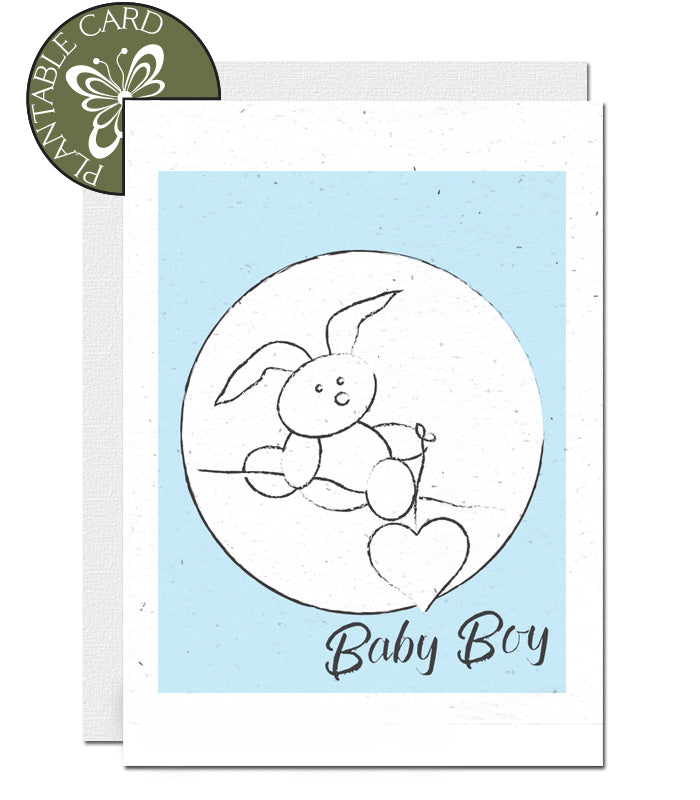ecofriendly baby boy card