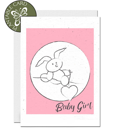 ecofriendly baby girl card