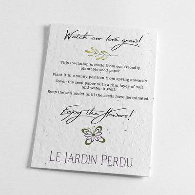 ecofriendly wedding stationery