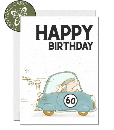 Plantable card 60th birthday