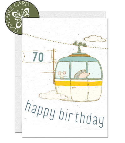 plantable seed paper card 70th birthday