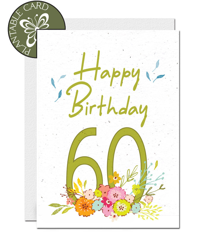 plantable birthday card  60th