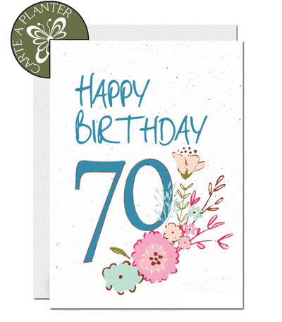 plantable card 70th birthday