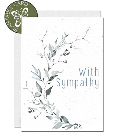plantable card with sympathy
