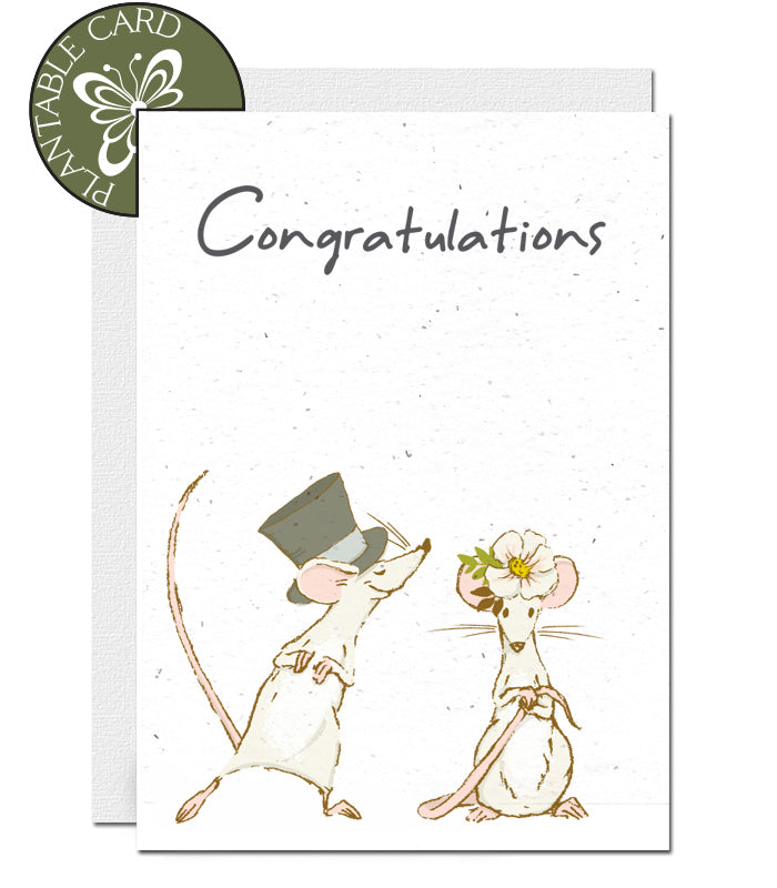 plantable card wedding