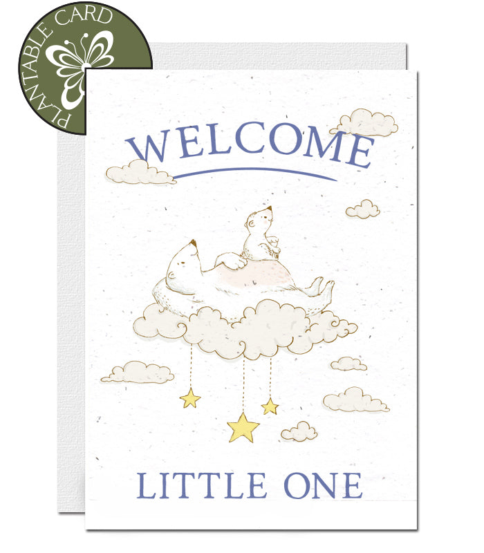 plantable card welcome baby