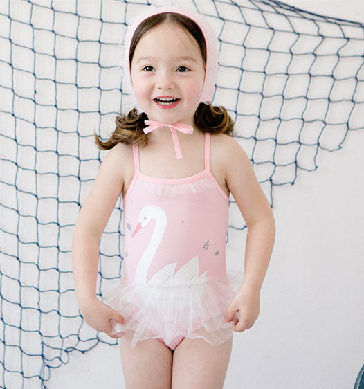 Ballet Swim Wear with cap Set