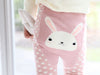 Pink Polka Dots Rabbit PP Pants with Socks - I Babyland  - 2