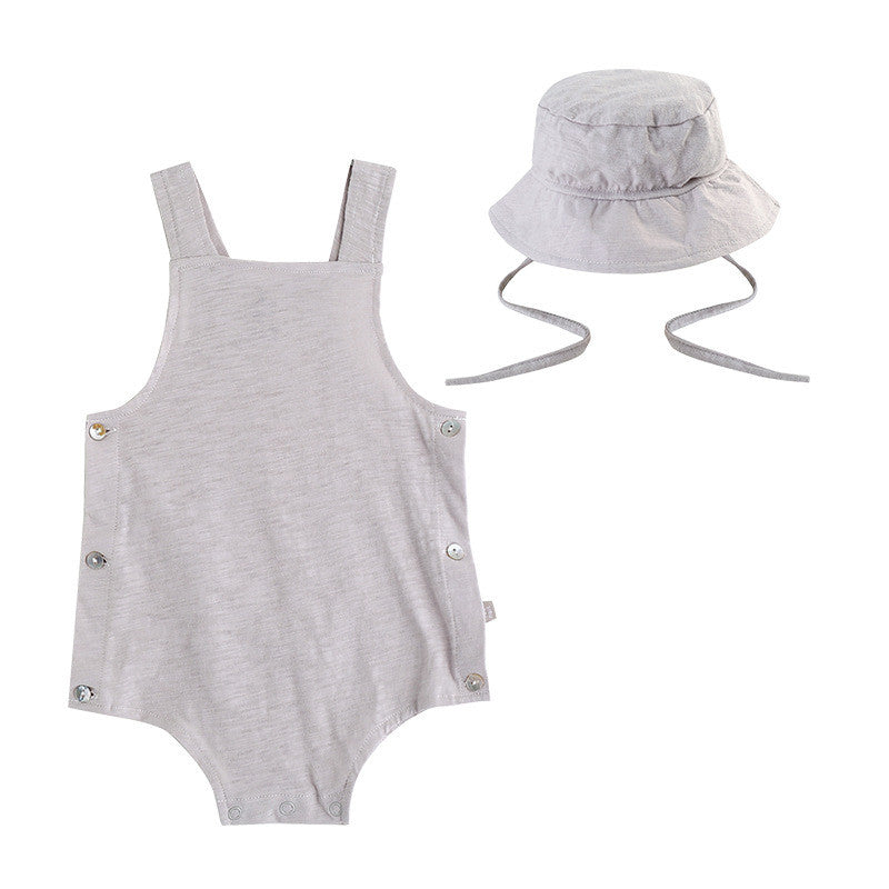 Grey Romper with Hat