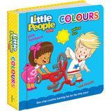 FISHER PRICE LITTLE PEOPLE PADDED BOARD BOOK: COLOURS
