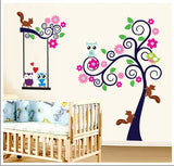 Colorful Lovely Owl Tree Wall Stickers - I Babyland  - 1