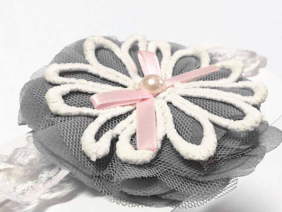 Tiered Flowers with Ribbons Baby Headband - I Babyland  - 2
