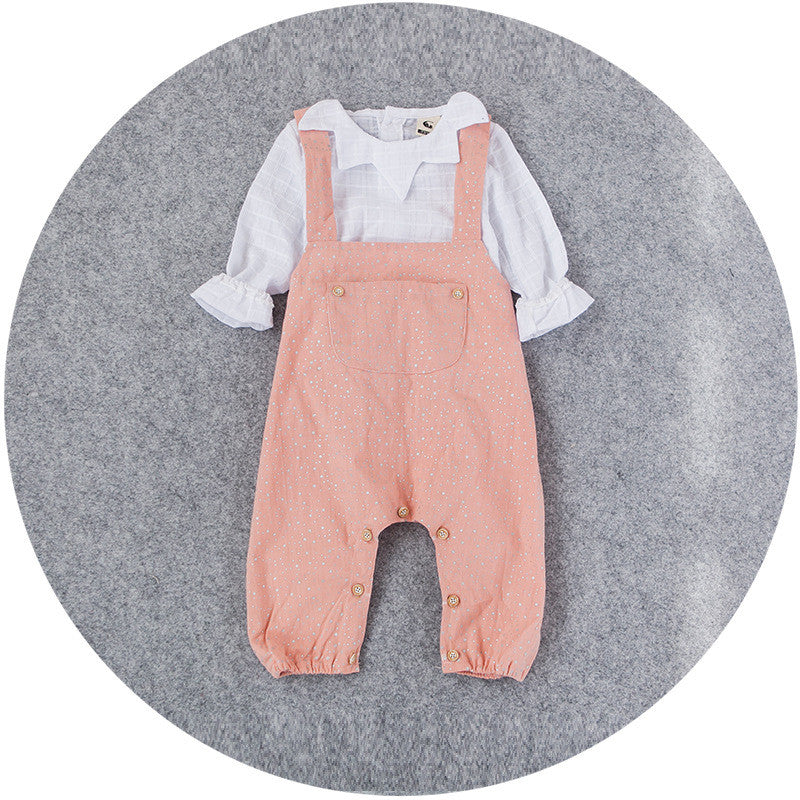 Star Jumpsuit in Coral 2pc Set