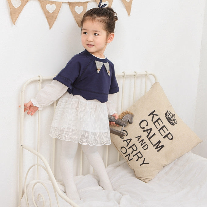 Navy Blue Top and Dress 2pc Set
