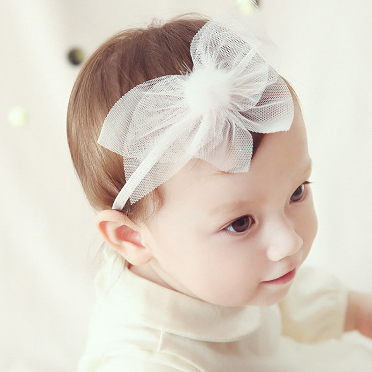 Furry Ball and Lace Headband (2 colors avail)