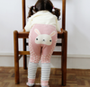 Pink Polka Dots Rabbit PP Pants with Socks - I Babyland  - 1