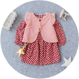 Floral Dress With Pink Vest 2 pc Set