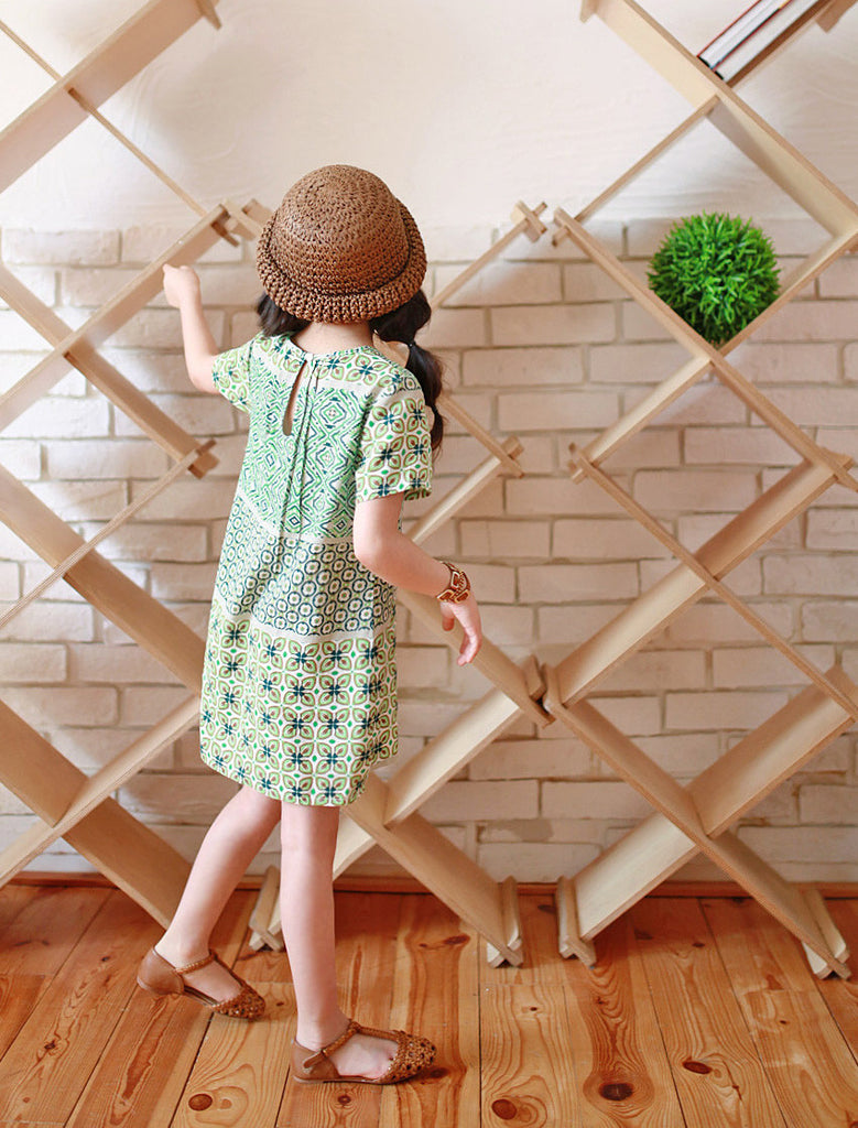 Emerald Green Retro Shirt Dress