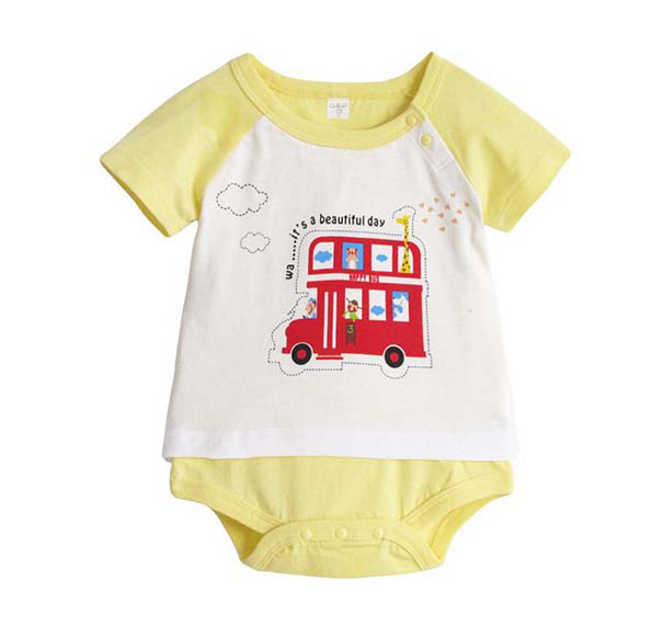 Yellow bus ride Short Sleeve Bodysuit - I Babyland