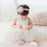 Tiered Flowers with Ribbons Baby Headband - I Babyland  - 1