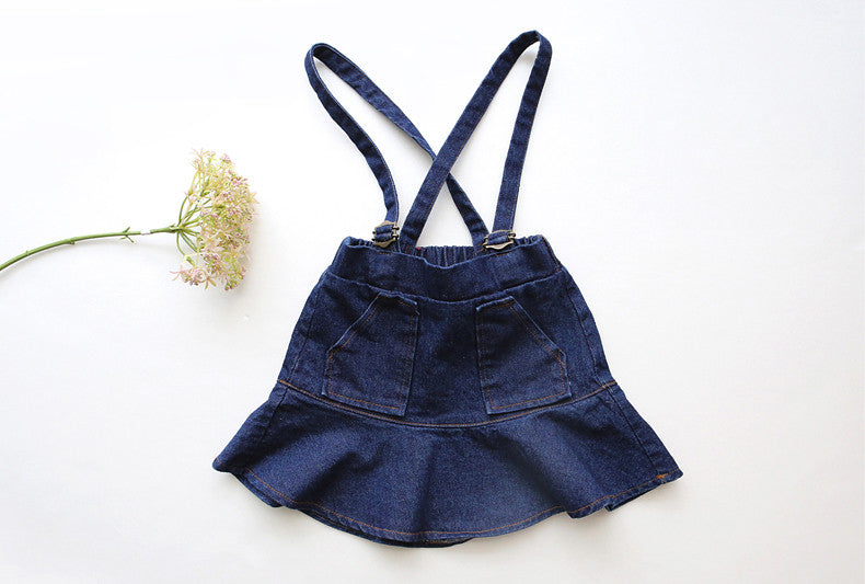 Denim Suspeder Dress