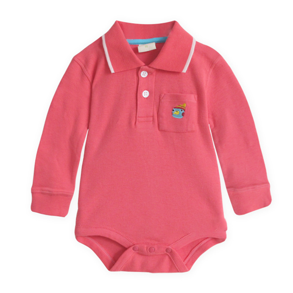 red Polo Bodysuit with a angry bird - I Babyland  - 1