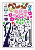 Colorful Lovely Owl Tree Wall Stickers - I Babyland  - 2