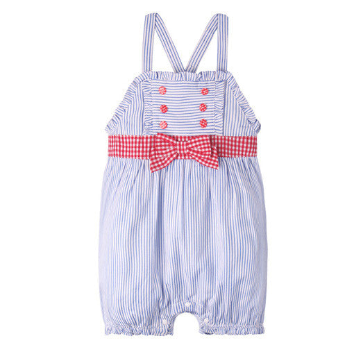 Blue Stripes Strap Romper