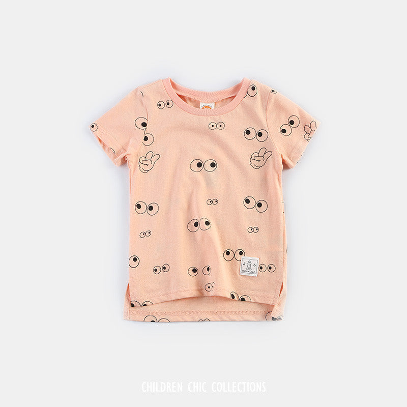 Big Eye Tee in Peach