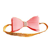 Elegant Watermelon Punch Bow Headband