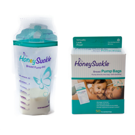 Honeysuckle Pump Milk Bag – 6 oz (50 units)