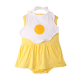 Sunny Shine Up Yellow Bodysuit Dress with Bib